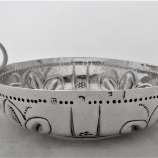 Very rare and large Charles I silver dish London 1643 Thomas King
