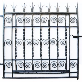 Antique Georgian Wrought Iron Pedestrian Gate