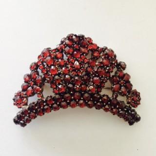 Antique Garnet Tiara Brooch.
