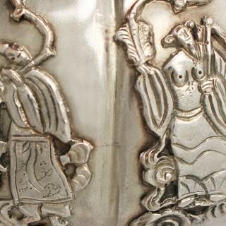Iraqi Silver Miniature Teapot - Antique Circa 1920