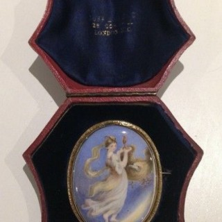 Gold Framed  Miniature of Hebe.