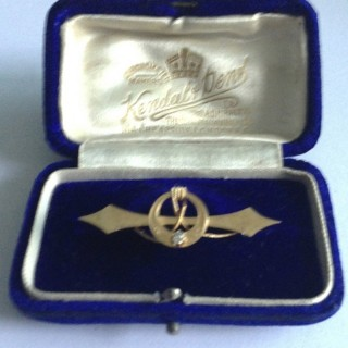 Victorian Naval Gold Brooch.