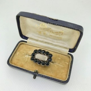 Antique Jet and Gold Brooch.