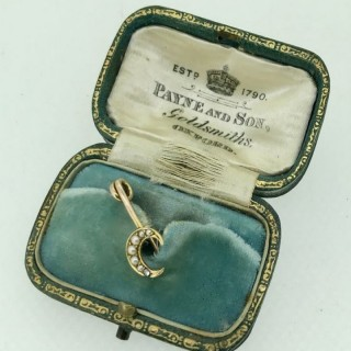 Belle Epoque Pearl and Diamond Brooch