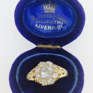 Diamond Cluster Ring.