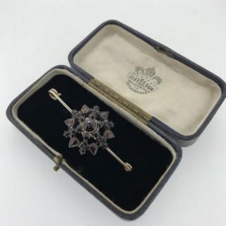 Large Antique Garnet Brooch.