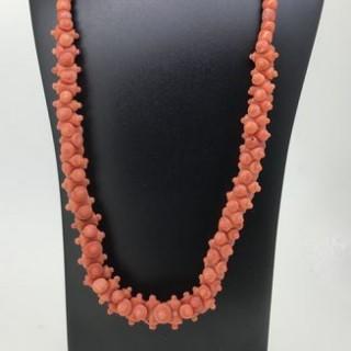 Antique Coral Necklace.