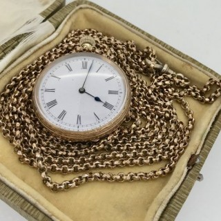 Pinchbeck Chain and Fob Watch.