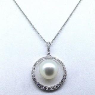Diamond and Pearl Pendant.