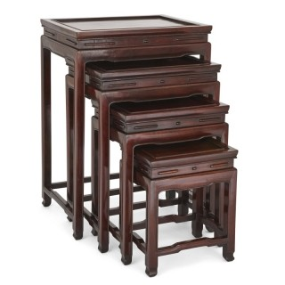 Four Chinese rosewood nested tables