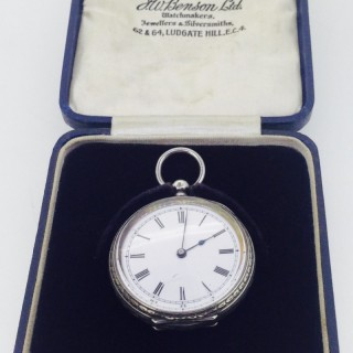 French Silver Pocket Watch.