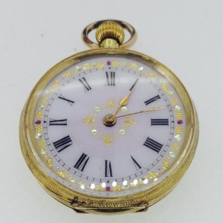 Antique 14ct Fob Watch.