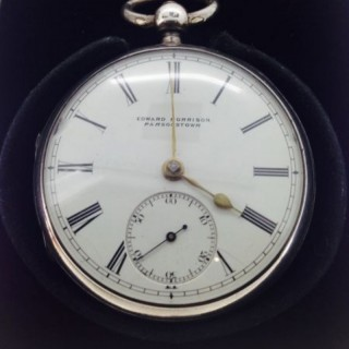 Irish Silver Pocket Watch.