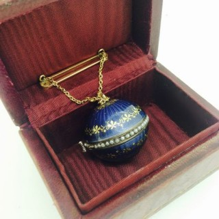 Antique Gold and Enamel Ball Watch.