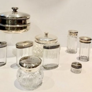 Selection of Sliver and Glass Pots