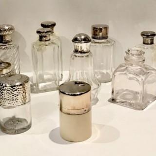 Selection of Antique Cologne Bottles