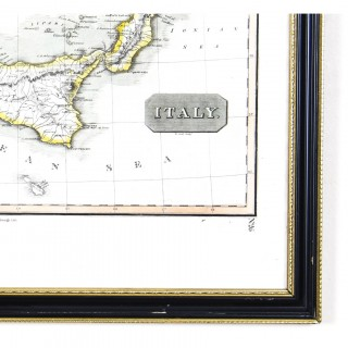 Antique Map of Italy drawn & engraved by R. Scott for Thomsons, Edinburgh 1814