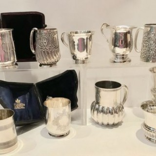 Silver Christening Mugs