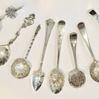 Silver Fruit Serving  Spoons