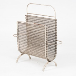Artimeta magazine holder in metal, Mathieu Mategot 1950s