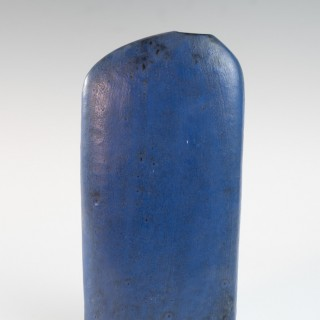 Early lapis blue asymmetric slab vase by Marcello Fantoni