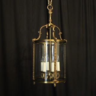 French Gilded Bronze Six Light Antique Lantern