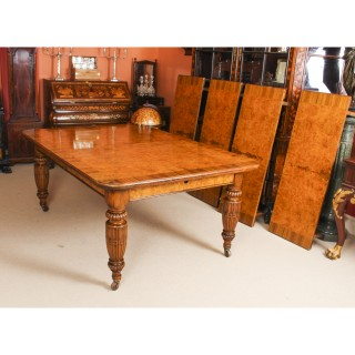 Antique Victorian Pollard Oak Extending Dining Table 19th Century