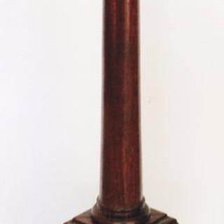 Tall Walnut Column Lamp.