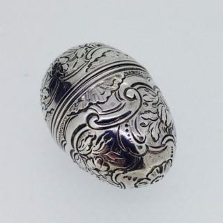 Georgian Silver Egg Nutmeg Grater.