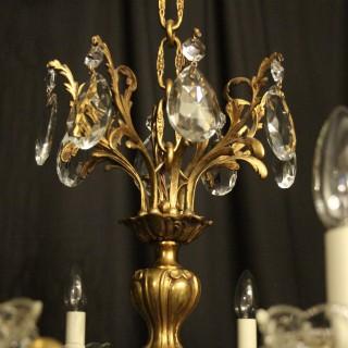 Italian Gilded Bronze 10 Light Antique Chandelier