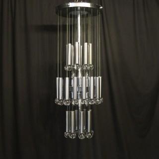 Italian Gaetano Sciolari 9 light chandelier
