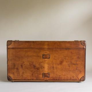 Goyard Leather Steamer Trunk