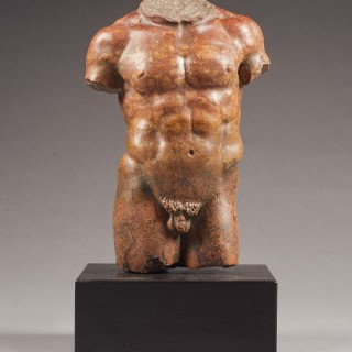 Red Marble Torso, After the Antique