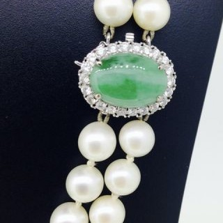 Jade and Pearl Necklace.