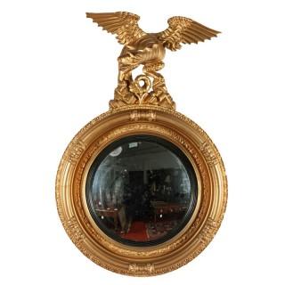 Regency Gilt Wood Convex Mirror