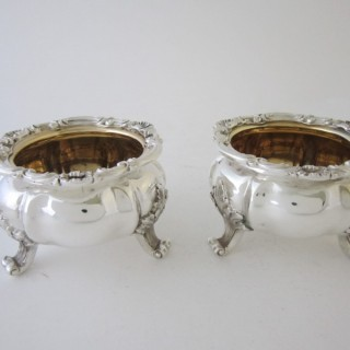 Antique Victorian Sterling silver salts