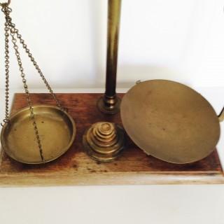 Victorian Pollard Brass Scales.