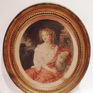 Antique Engraving of Nell Gwynn.