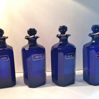 Antique Bristol Bottle Decanter Box Ex Mallets Stock.