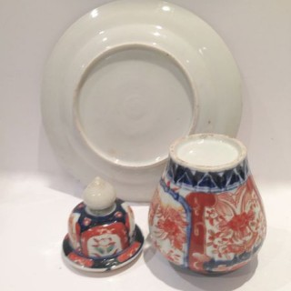 Antique Imari Vase and Plate.