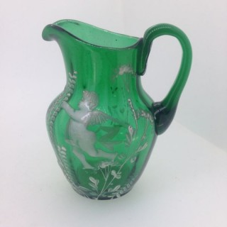 Victorian Mary Gregory Jug.