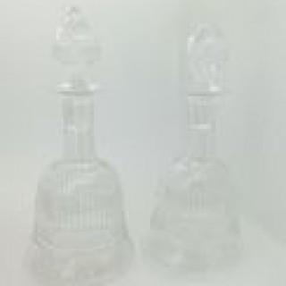 Pair Victorian Liqueur Decanters.