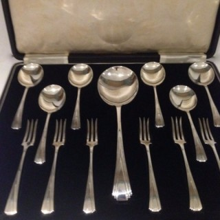 Art Deco Silver Dessert Service.