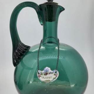 Antique Green Glass Flask