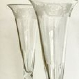 Six  Victorian Champagne  Flutes