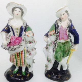 Antique Pair of Staffordshire Figures.