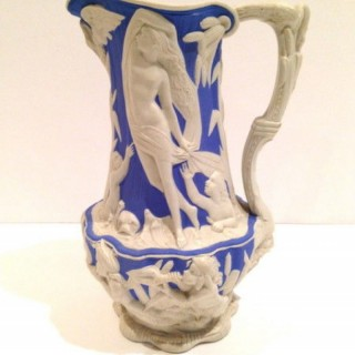 Victorian Parian Water Jug.