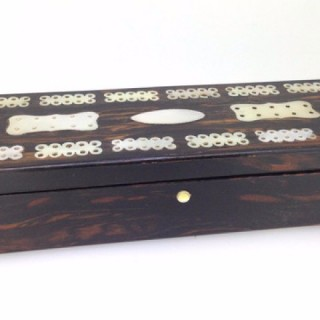 Rosewood Box with Dominoes