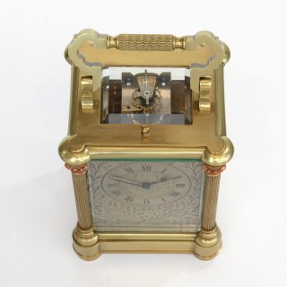 Silver, Brass & Copper Antique Carriage Clock