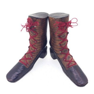 Pair of Antique Treen Boots